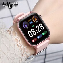 LIGE 2021 New Smart Watch Men Women IP67 Waterproof Bluetooth 5 Sleep Monitor Fitness Heart Rate Tra