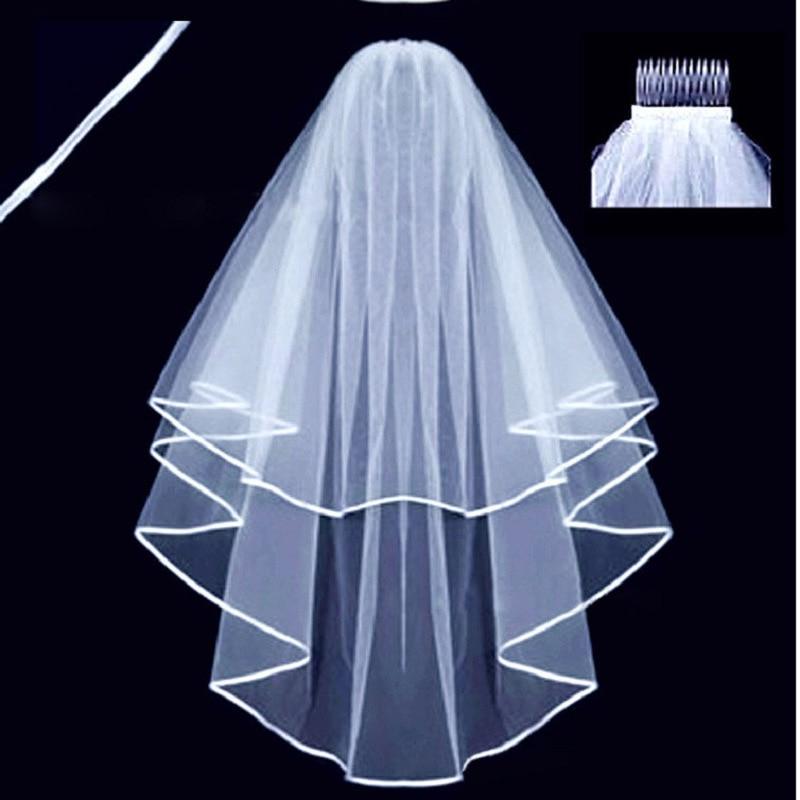 Двухслойная искусственная Фата 2023 искусственная дешевая Свадебная фурнитура для свадебных платьев дешевая свадебная одежда