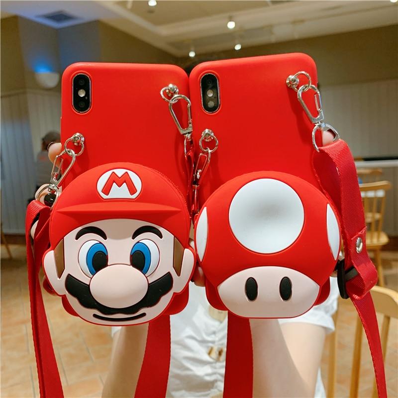Для Samsung S8 S7 A9 A6 A7 A8 J4 J6 J8 Plus A20E A10s A20s A51 60 71 40 10 11 21 41 кошелек Jumpman гриб Мягкий ТПУ чехол