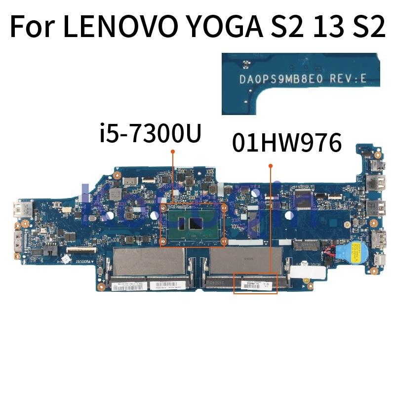 KoCoQin اللوحة المحمول لينوفو اليوغا S2 13 S2 النواة SR340 I5-7300U اللوحة DA0PS9MB8E0 01HW976 DDR4