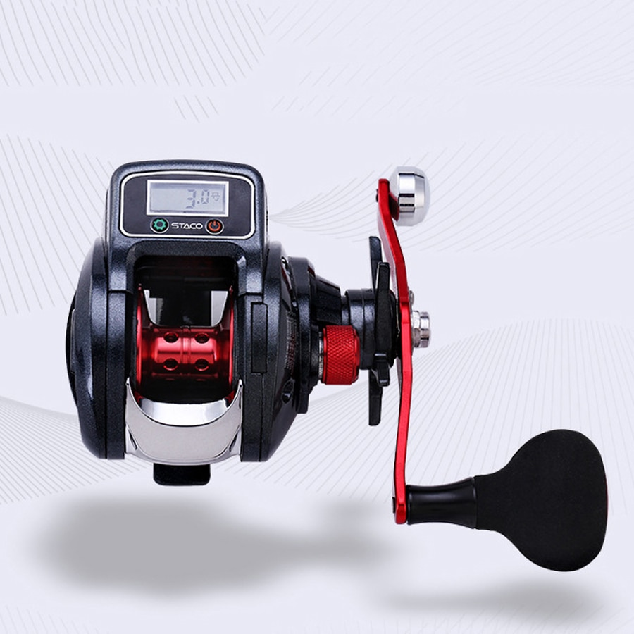 6.3:1 13+1BB Fishing Reel Left / Right Hand Low Profile Line Counter Fishing Gear with Digital Display Carretilha Pesca Tackle enlarge