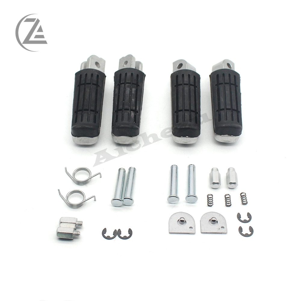 ACZ Motorcycle Front Rear Footrests Foot pegs For Yamaha FZ400 FZ600 FZS600 FZS1000 FZ1000 FZ-8 FZ8 FZ6 FZ1 XJ600 XJ900 TDM850 T недорого