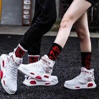 Baskets de Basket-ball pour hommes  chaussures de Sport unisexes  qui respirent  modele chaussures decontractees