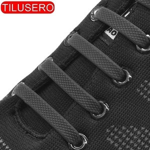 Silicone Elastic Shoelaces Special No Tie Shoelace Lacing Kids Adult Sneakers Quick Shoe Lace