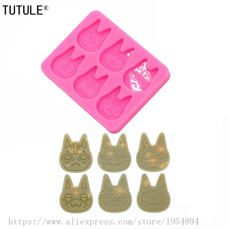 Gadgets,Shiny Bunny Head Silicone Mold Resin Crafting Casting Charm Keychain Rabbit Ears Flat Epoxy Polymer Clay earring Molds
