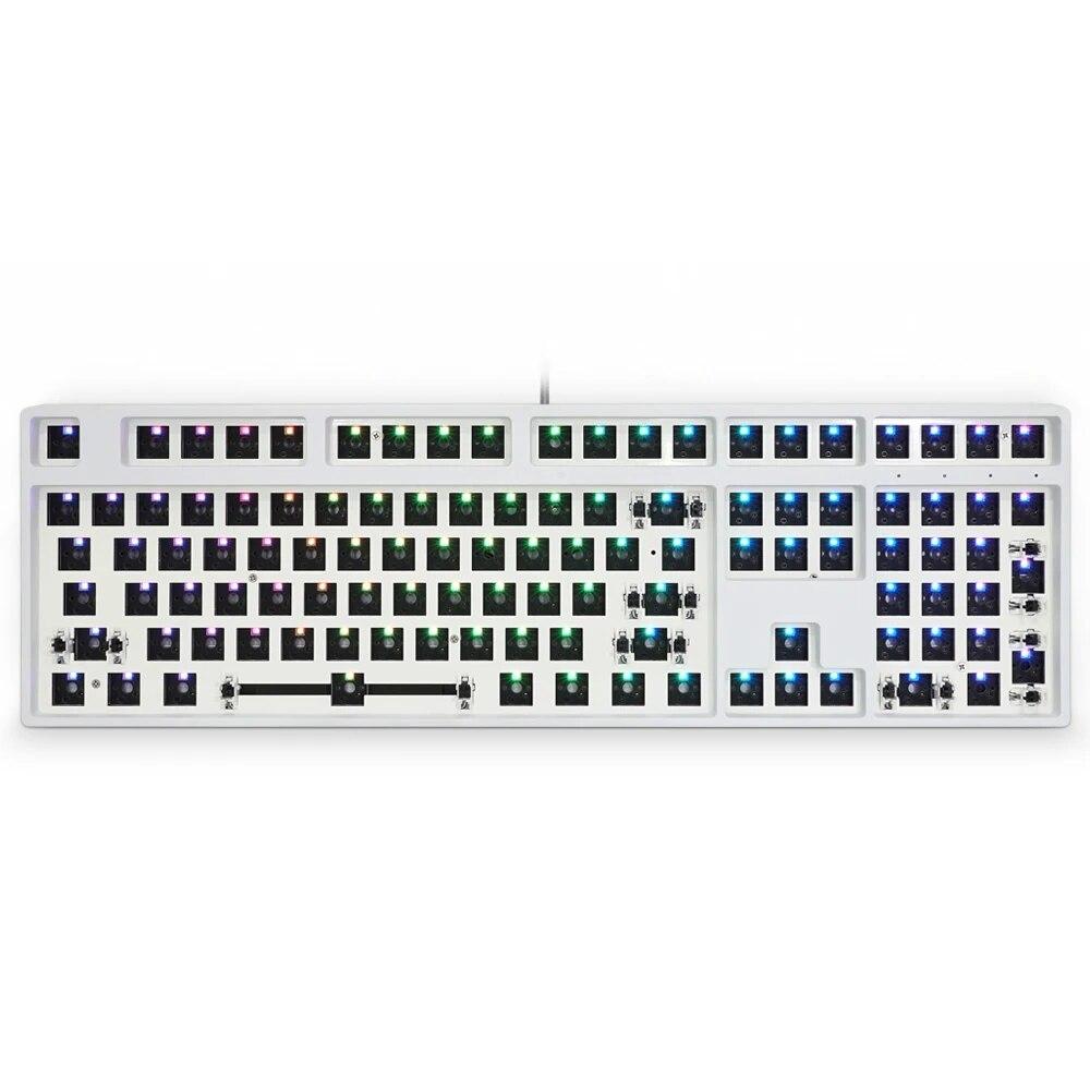 EPOMAKER GK108 مجموعة لوحة مفاتيح قابلة للتبديل ، مع إضاءة خلفية RGB ، واجهة Type-C ، قابلة للبرمجة بالكامل
