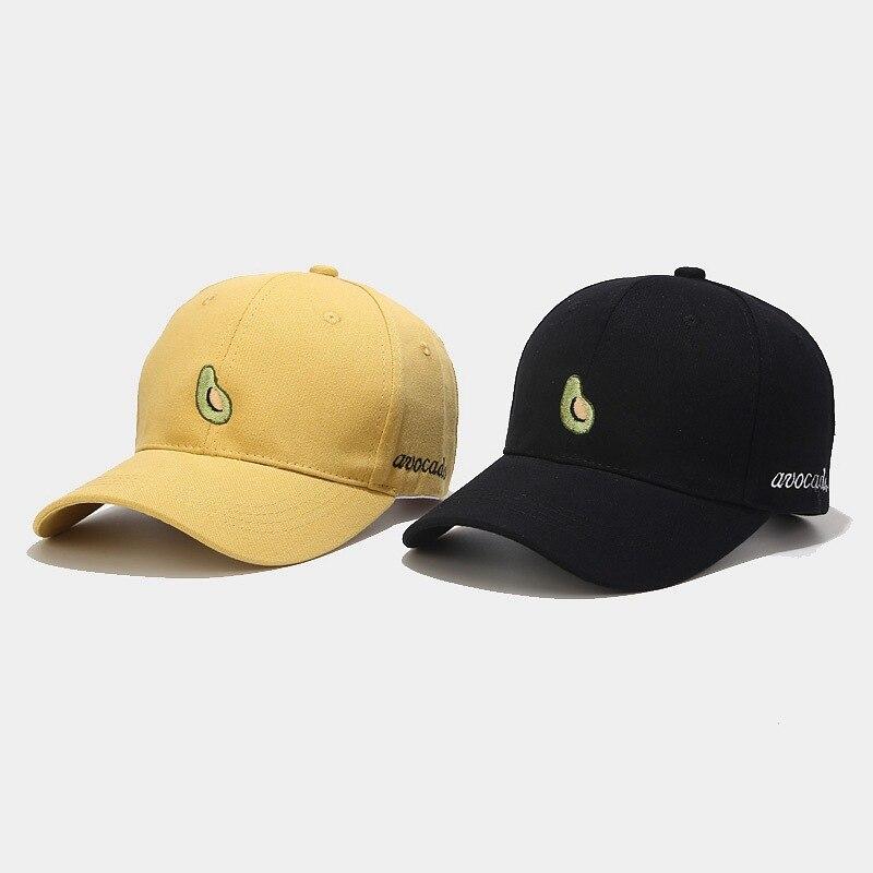Gorra de béisbol bordada con aguacate coreana para mujeres, gorra de estilo urbano para hombres, gorra de visera femenina para el verano, gorra de Sol para estudiantes