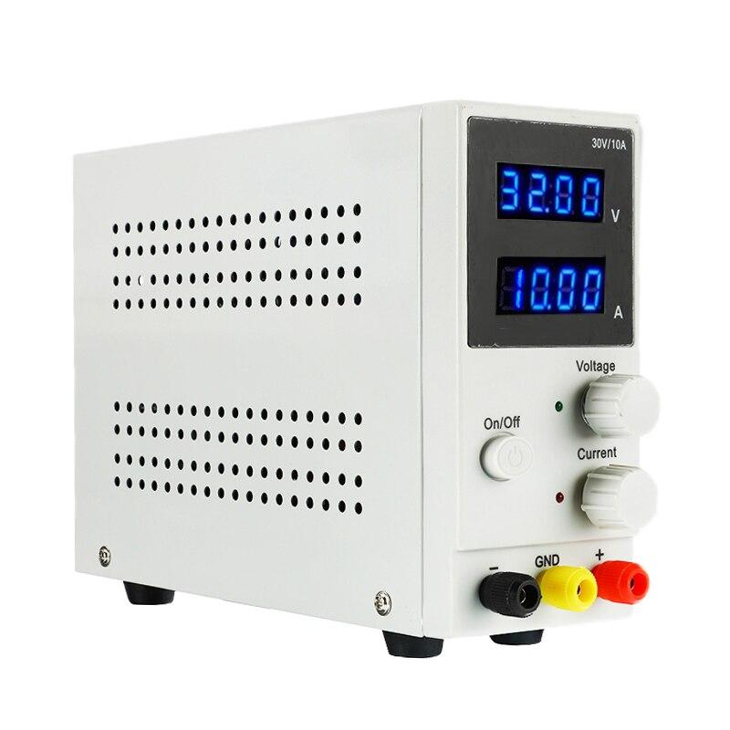 Nuevo regulador de conmutación ajustable de laboratorio de pantalla LED de 30V 10A fuente de alimentación de CC retrabajo de reparación de teléfono portátil 110 V-220 V