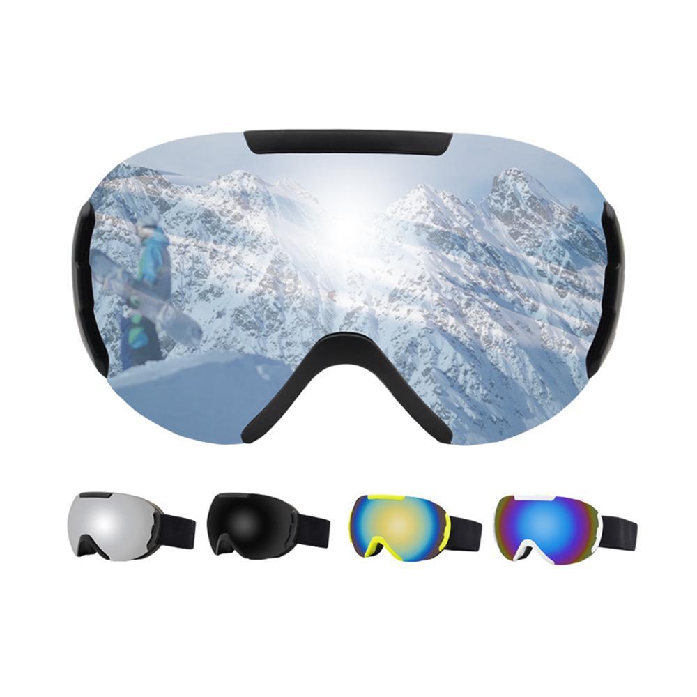 Сферические двухслойный горнолыжные защитные очки УФ Анти-туман Ветрозащитная маска очки Горные лыжи оборудование, очки расходные материа...