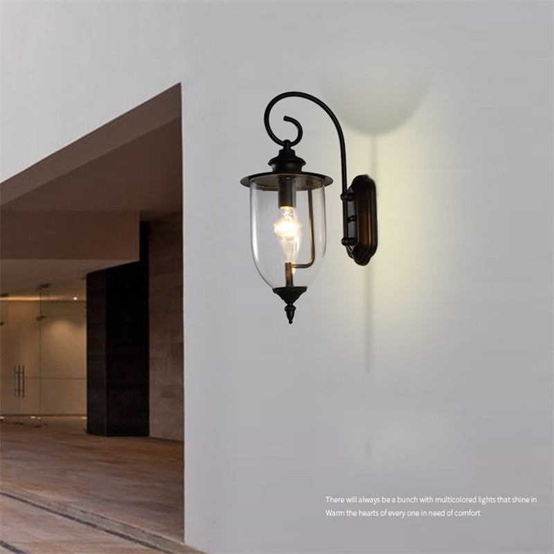 Hongcui Classical Outdoor Wall Lamps LED Light Waterproof IP65 Sconces For Home Porch Villa Decoration enlarge