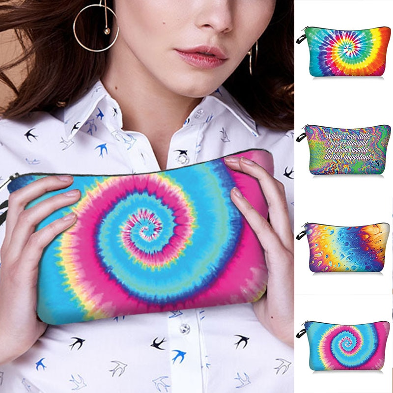 Women Makeup Bags Cosmetic Bag With Multicolor Pattern 3D Printing neceser Cosmetics Pouchs For Trav