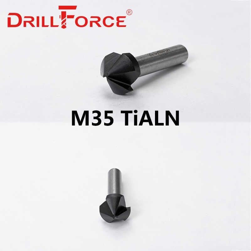 Drillforce Afschuining Verzinkboor Boren 6 3 40mm 3 Fluiten 90 Graden 6 3 8 3 10 4 12 4 16 5 20 5 25 31 40mm Boren Aliexpress