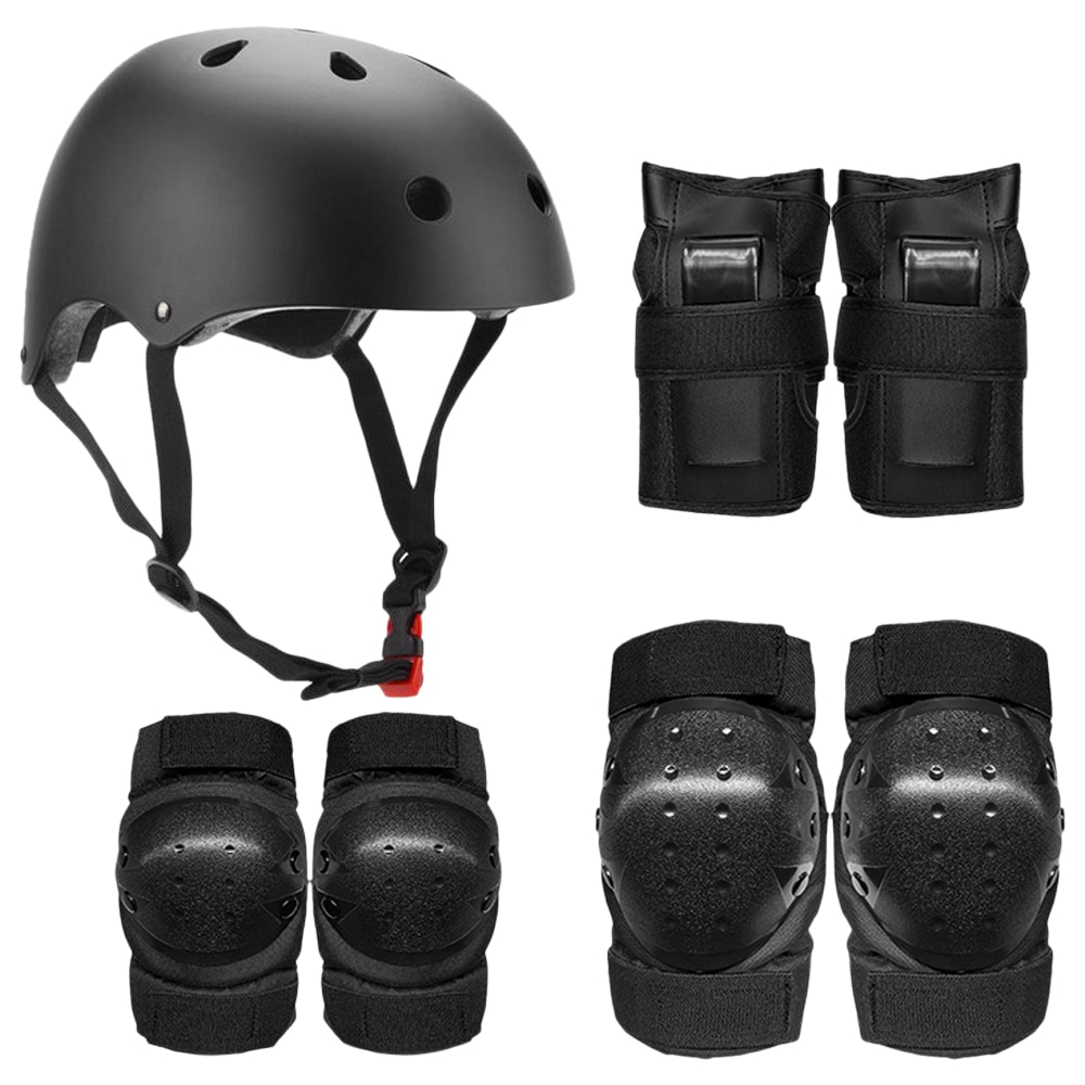 Protective Gear Set 7 in 1 Knee Elbow Pads Wrist Guards Helmet Sports Safety Protection Pads for Kid