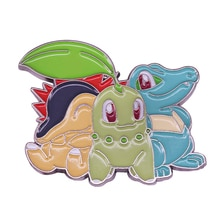 Chikorita Cyndaquil & Totodile Mini Pocket Size Badges Pin Gamers Goed Gesprek Starter!