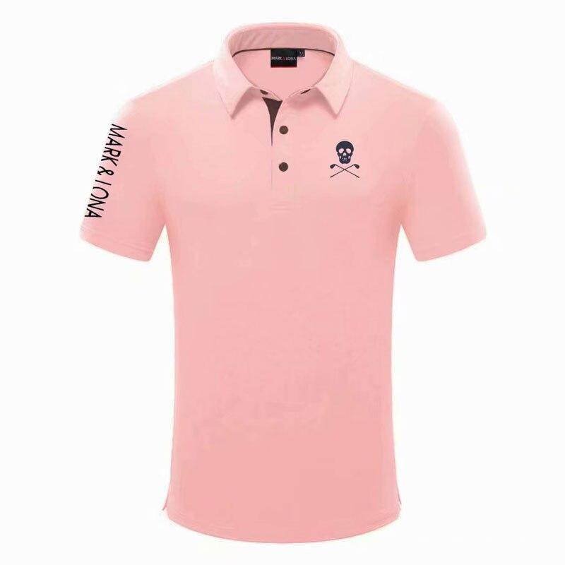 الرجال جديد MARK.LONA قميص جولف قصير أحدث الصيف ملابس الغولف قصيرة الأكمام مكافحة بيلينغ الرياضة جولف تي شيرت شحن مجاني