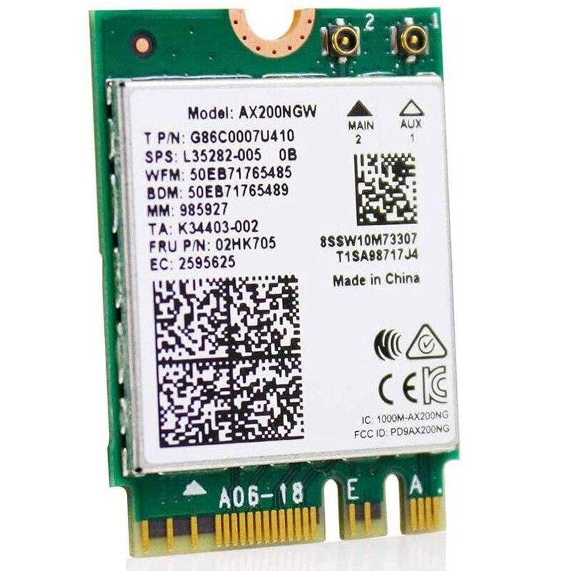 WiFi6 M.2 وحدة AX 3000 100mbps شبكة محول مع بلوتوث 5.1 لاسلكية واي فاي 6 بطاقة 2.4G/5Ghz 802.11Ax MU-MIMO