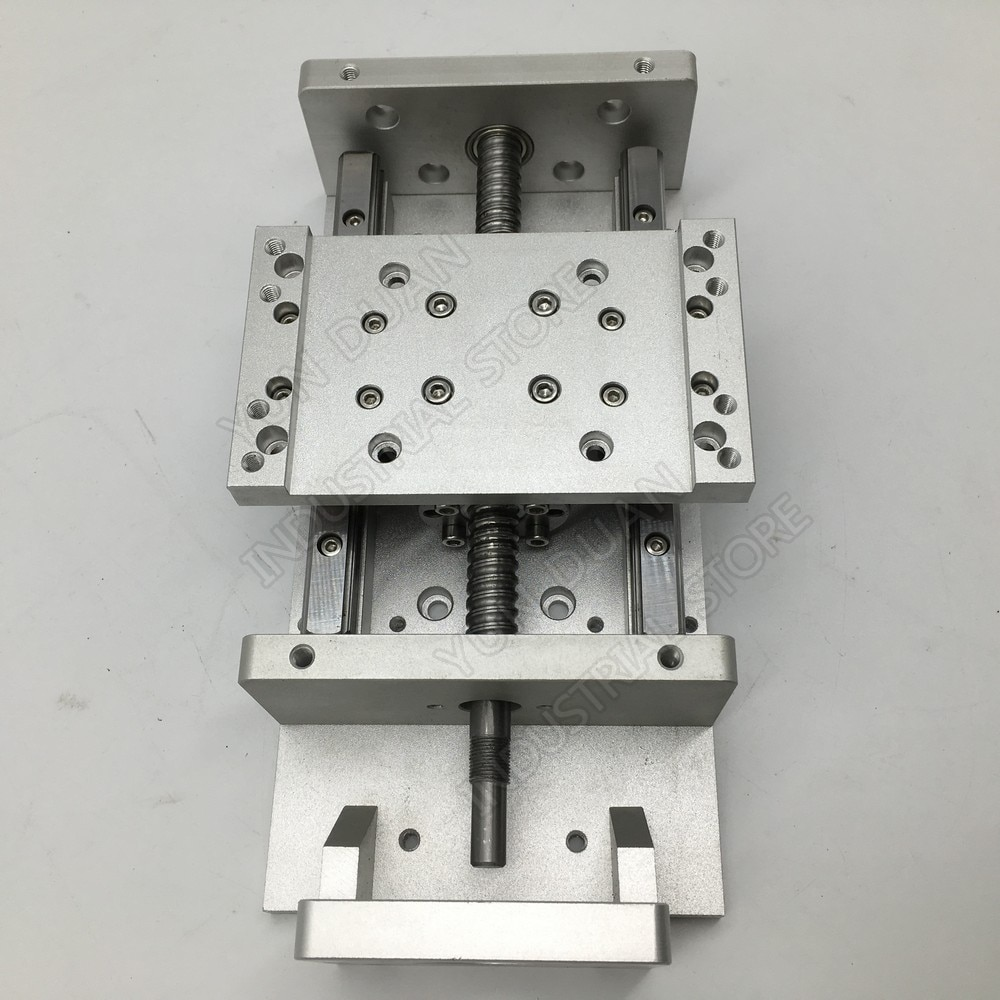 Carga pesada XYZ eje Cruz 100MM 200MM carrera módulo Mesa Deslizante eléctrico deslizante etapa lineal Ballscrew HG15 plataforma de guía CNC