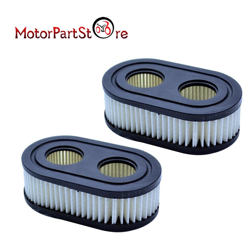 Flypig novo 2 pçs cortador de grama filtro ar 2 buracos para b & s parte 798452 5432 593260 substituição d15 motocicleta filtros