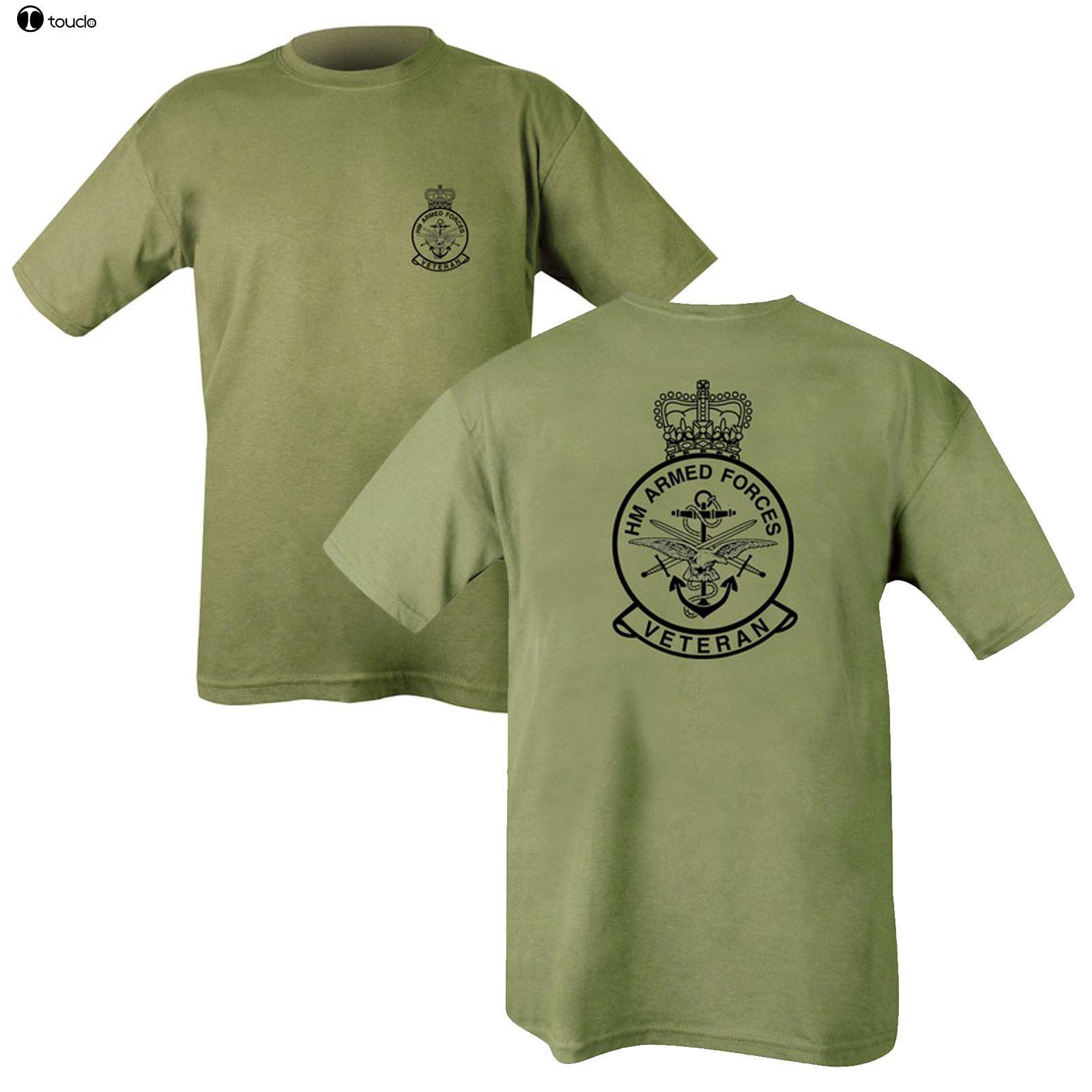 Mens T Shirts Fashion 2019 Printed on Two Sides Army Olive Green T-shirt - Hmrc Abs. Reme RGR RMC SAS Re T Shirt Short Sleeve