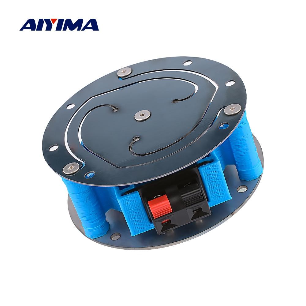 AIYIMA 3 بوصة الميكرفون المهتز 6 أوم 60 واط باس صدمة محرك الطائرة كامل المدى الرنين سيارة مقعد أريكة صدمة الموسيقى لتقوم بها بنفسك المسرح المنزلي