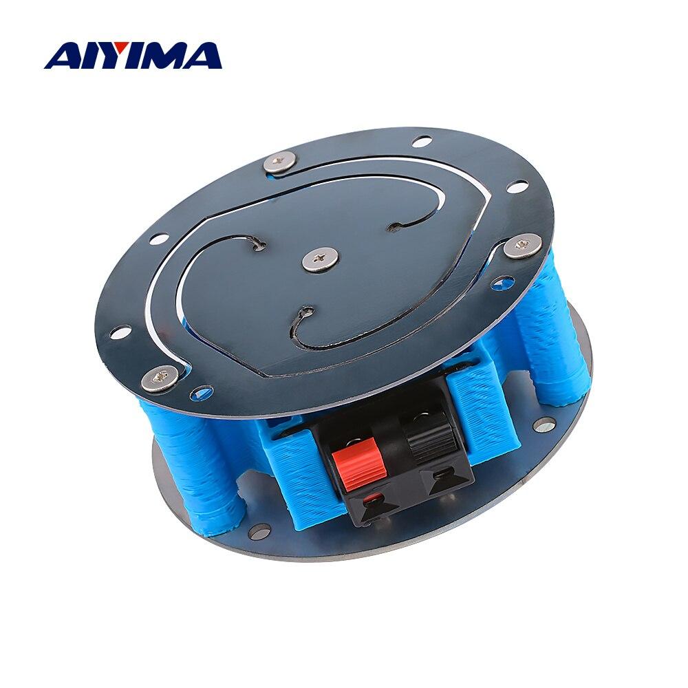 AIYIMA, altavoz vibratorio de 3 pulgadas, 8 ohm, 60W, bajo, unidad de choque, plano de resonancia completa, silla de coche, sofá, música, choque DIY, cine en casa
