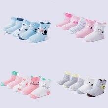 5 pairs/lot Flamingo Cartoon Knit Breathable Mesh Cotton Soft Newborn Socks Kids Boy Girl Baby Socks For Spring and Summer