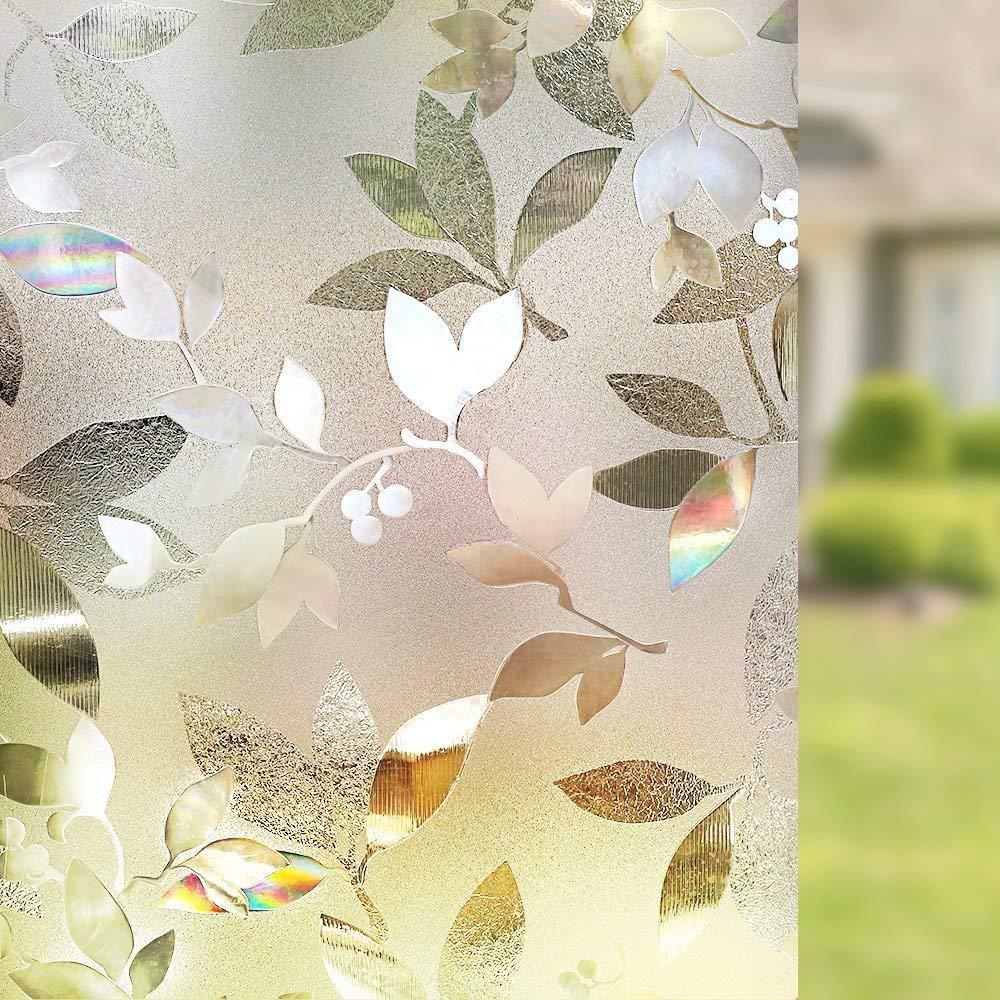 Etiqueta engomada de vidrio autoadhesiva extraíble de la ventana de cristal decorativo 3D de LUCKYYJ
