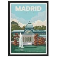 Affiche de voyage Vintage  palais de cristal de dubai  espagne  toile  peinture murale  Art Kraft  autocollants muraux revetus  cadeau de decoration pour la maison