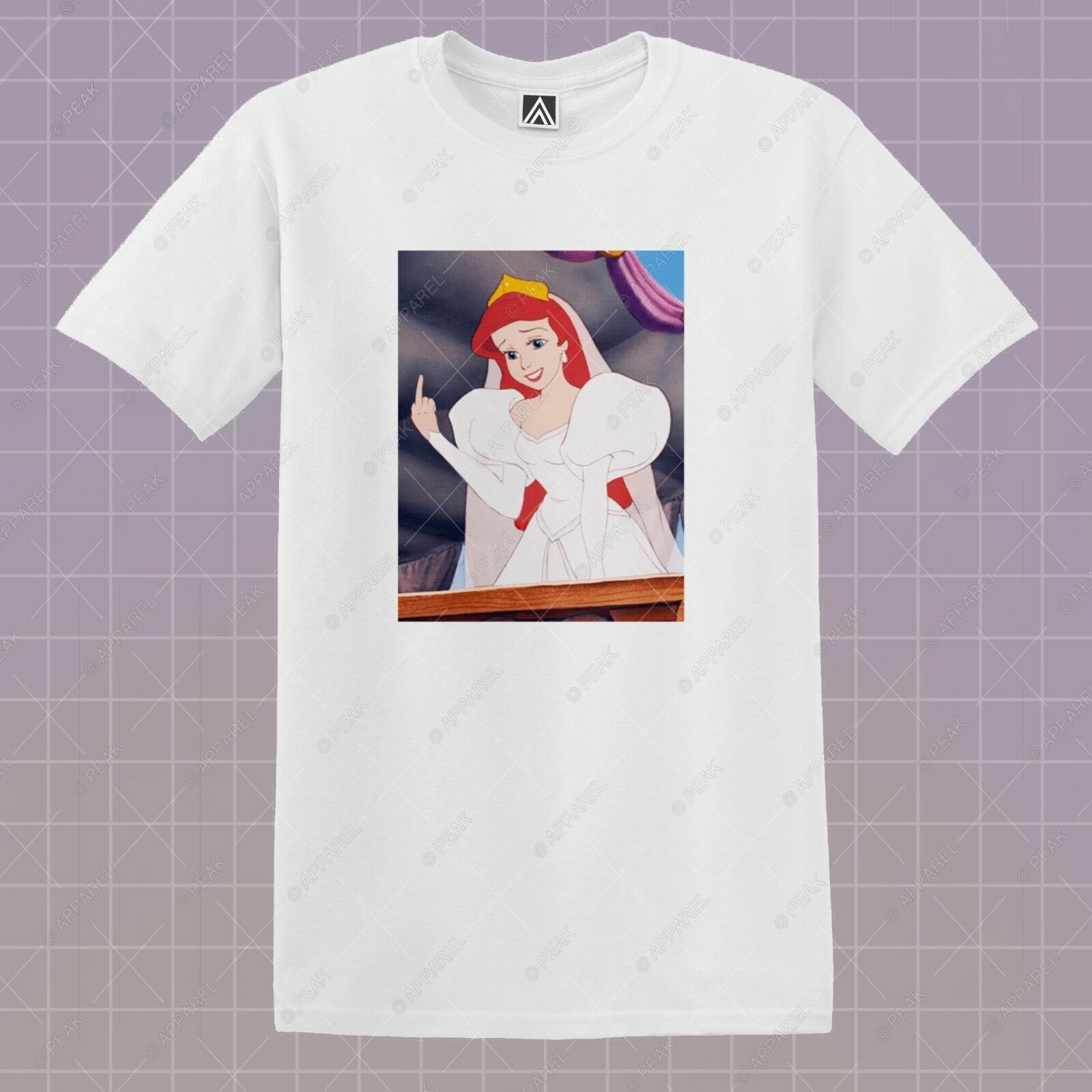 Ariel f * ck fora camiseta sereia princesa gráfico camiseta ursula elsa manga curta topo
