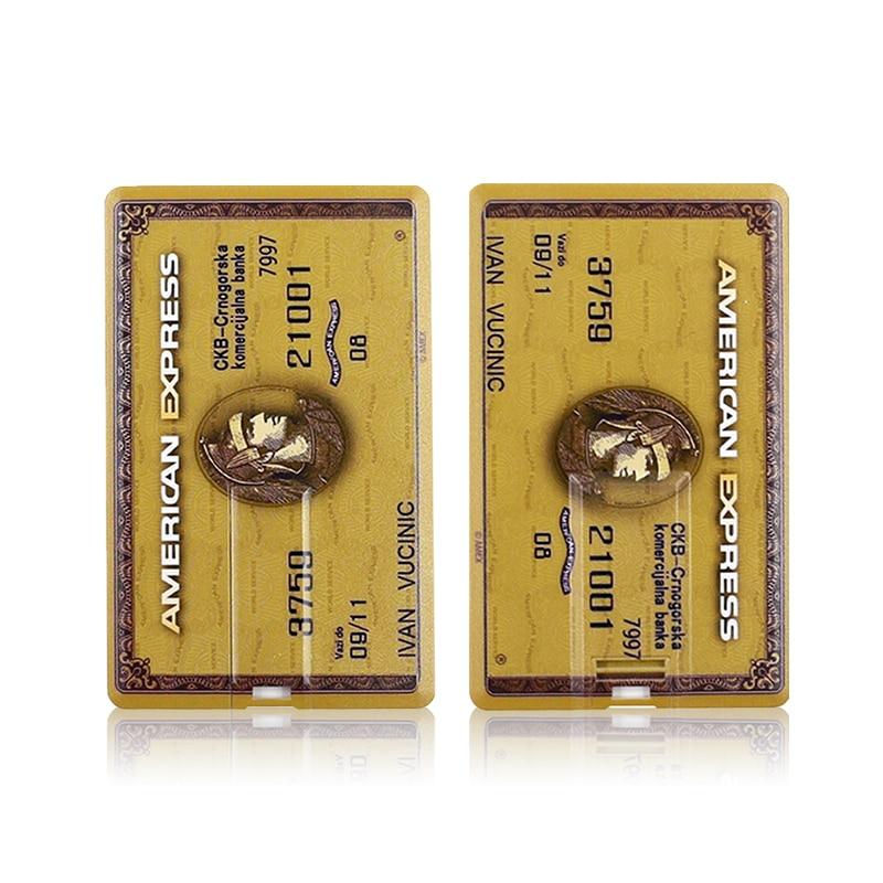 100% реальная емкость кредитных карт Американский Экспресс стиль USB флэш-накопитель карта памяти, Флеш накопитель 4GB8GB16GB32GB 4 цвета u диск