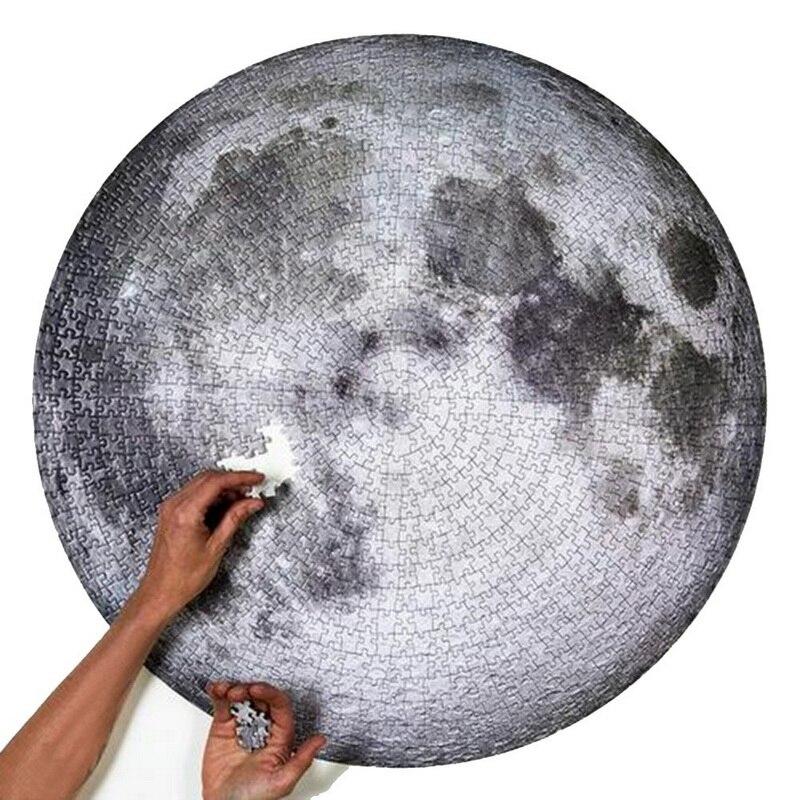 Junejour la luna de la tierra rompecabezas 1000 piezas de puzle rompecabezas de juguete espacio planeta rompecabezas familia reduce pression Juguetes Decoración