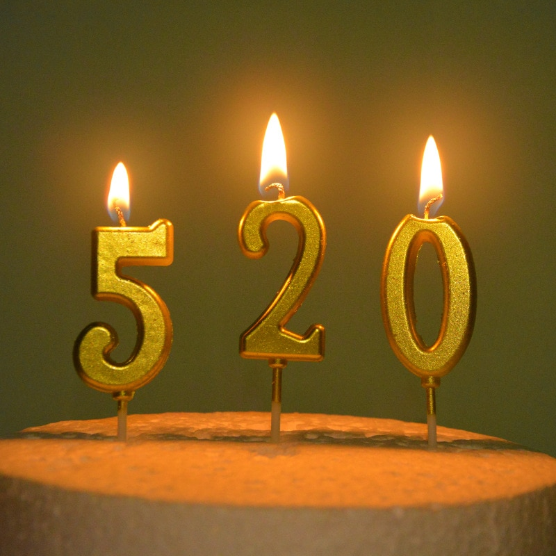 1pc 0-9 Golden Birthday Number Candle Cake Topper Happy Birthday Baby Shower For Baking Supplies Cake Decoration Accessories candle birthday girl decoration birthday supplies cake candle cake decorating princess girl pumpkin car birthday candle