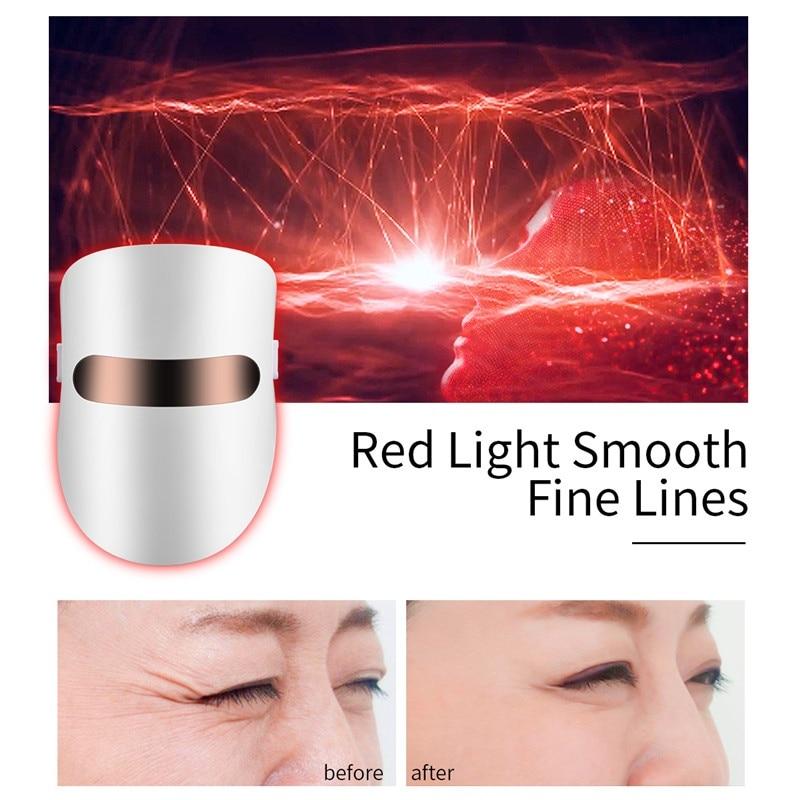 مصباح ليد علاج للوجه قناع مكافحة الشيخوخة المضادة للتجاعيد أدوات البيتواي الوجه 3 ألوان سبا أداة الجمال جهاز الجلد تشديد شركة