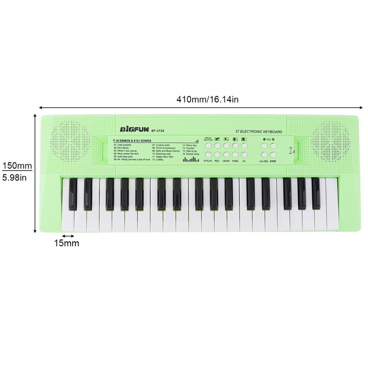37 Keys Electronic Keyboard Piano Digital Music Key Board with Microphone Children Gift Musical Enlightenment Electronic Organ enlarge