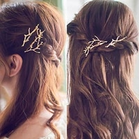 new antlers hair accessories for women girls leaves barrettes princess clips alloy elegance styling tool gold gifts 2021