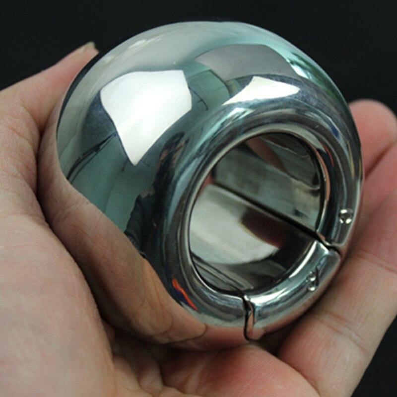 الكرة نقالة 450-2000g الفولاذ المقاوم للصدأ كيس الصفن قلادة ضبط النفس الرجال القضيب عبودية كيس الصفن قفل تمارين حلقة للرجال BB2-44