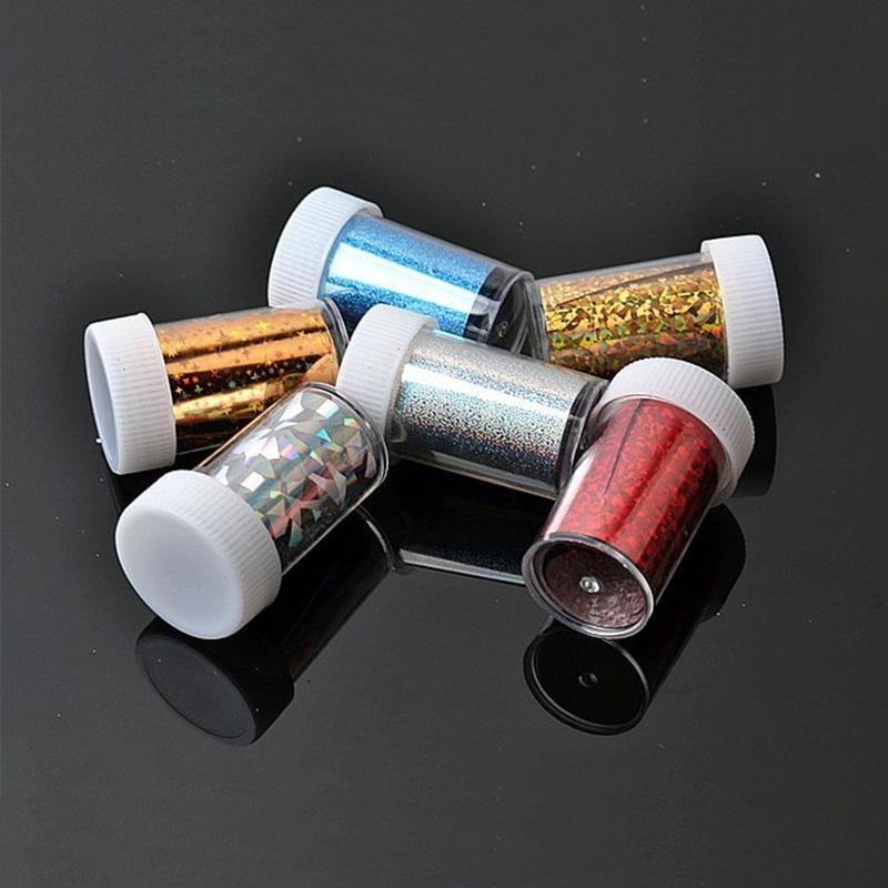 Nail Art Sub-bottle Glitter Starry Paper Nail Art Material Bottle Empty Plastic Packaging F6Z7