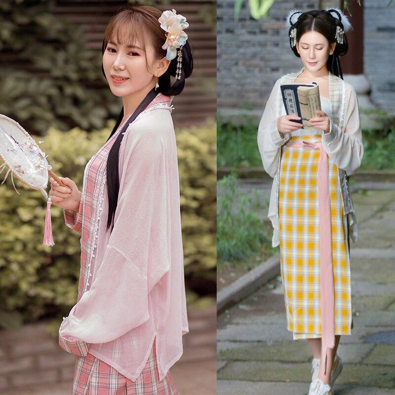 Nueva ropa de verano mejorada de estilo chino para mujeres adultas Song Dynasty, ropa elegante para mujeres, vestido Hanfu para Cosplay, vestido VO1151