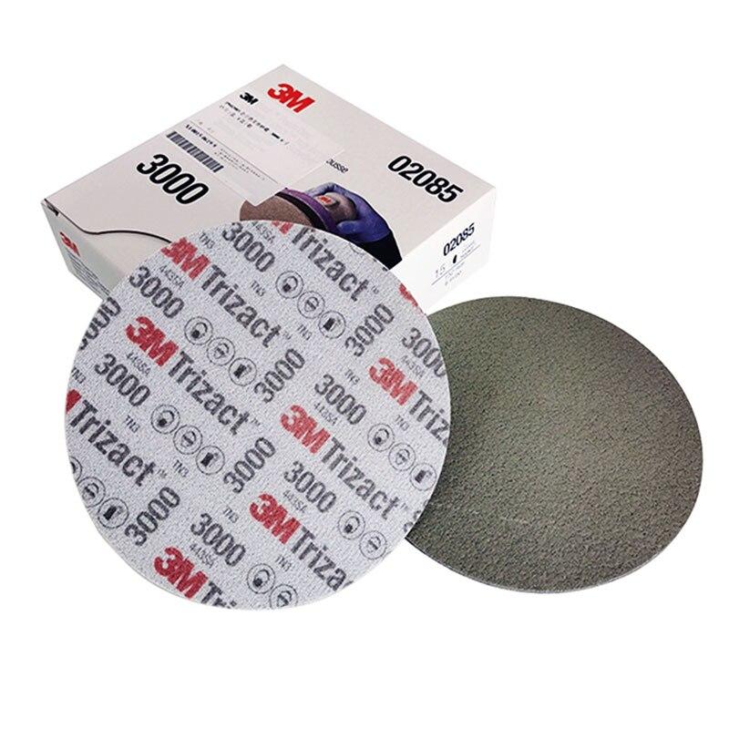 15pcs 3M Trizact Pyramid Disc Sponge Sandpaper P3000 P5000 Precision Grinding 6