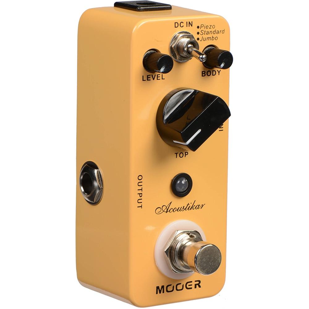Mooer Acoustic Guitar Pedal Simulation Effect Pedal Piezo Standard Jumbo for Electric Guitar Parts Mac1 Acoustikar Effector enlarge