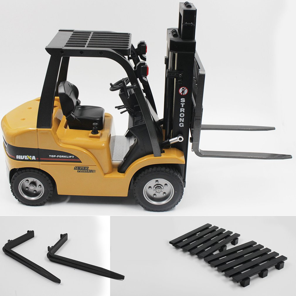 HUINA TOYS 1577 1/10 8CH Alloy RC Forklift Truck Crane Truck Construction Car Vehicle Toy with Sound Light Workbench Lift RTR RC enlarge