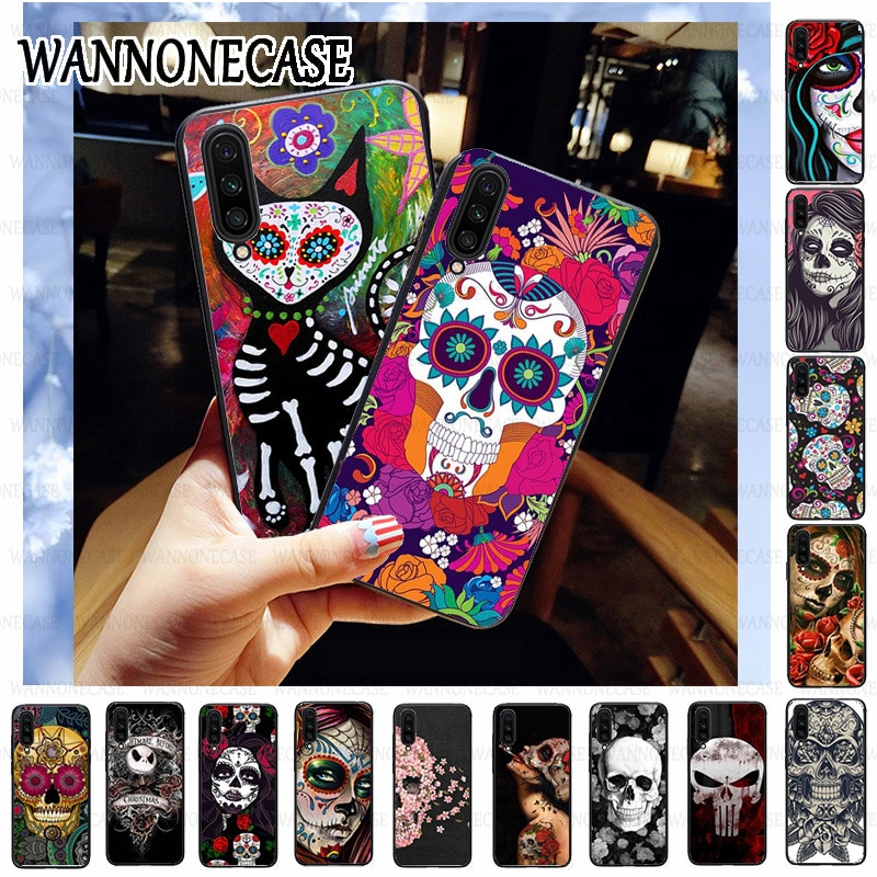 Capa preta de capa macia para celular, para xiaomi mia3 mia2 mi8 mi8se mi9se 9lite mi9t mi9tpro mia1 mexicano arte tatuada da menina