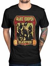 Camiseta oficial Alice Cooper de banda electa, camisetas de la fuerza especial bienvenida a mi pesadilla