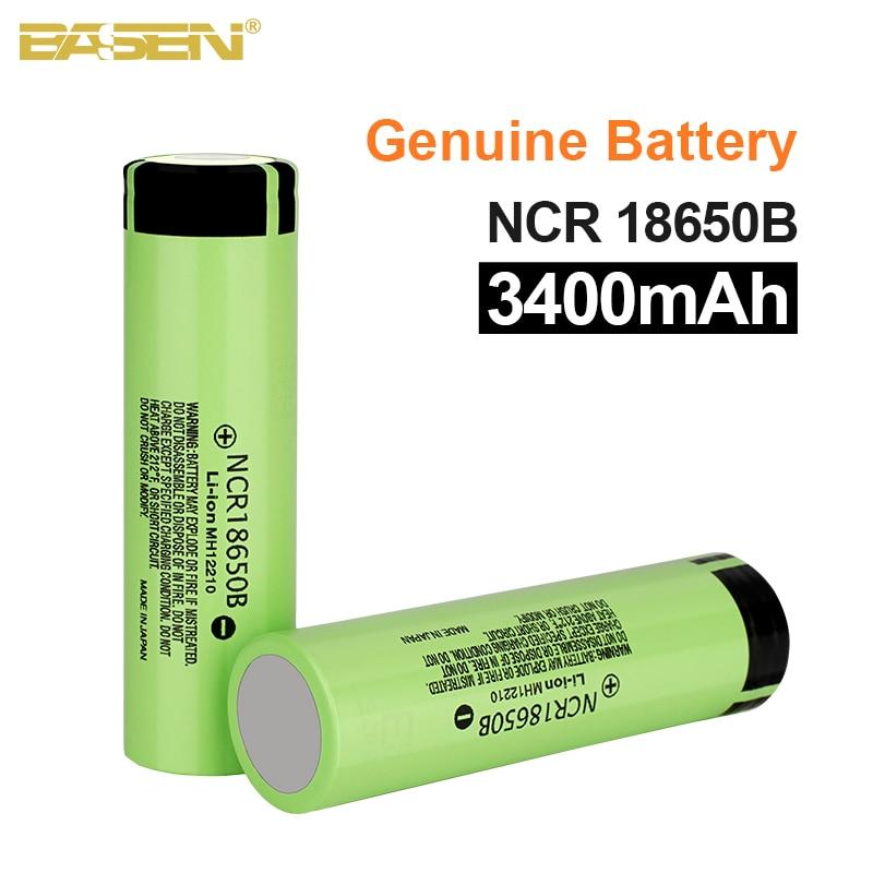 ¡Nuevo y 100%! Batería 18650 Original Basen NCR18650B 3,7 v 3400mah batería recargable de litio para baterías de linterna (sin PCB)
