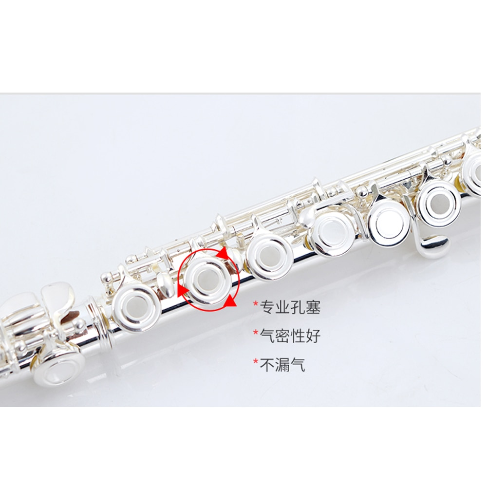 Flute instrument 17 hole opening and closing dual purpose professional grading E-Key segmentation b-tail student beginner flute enlarge