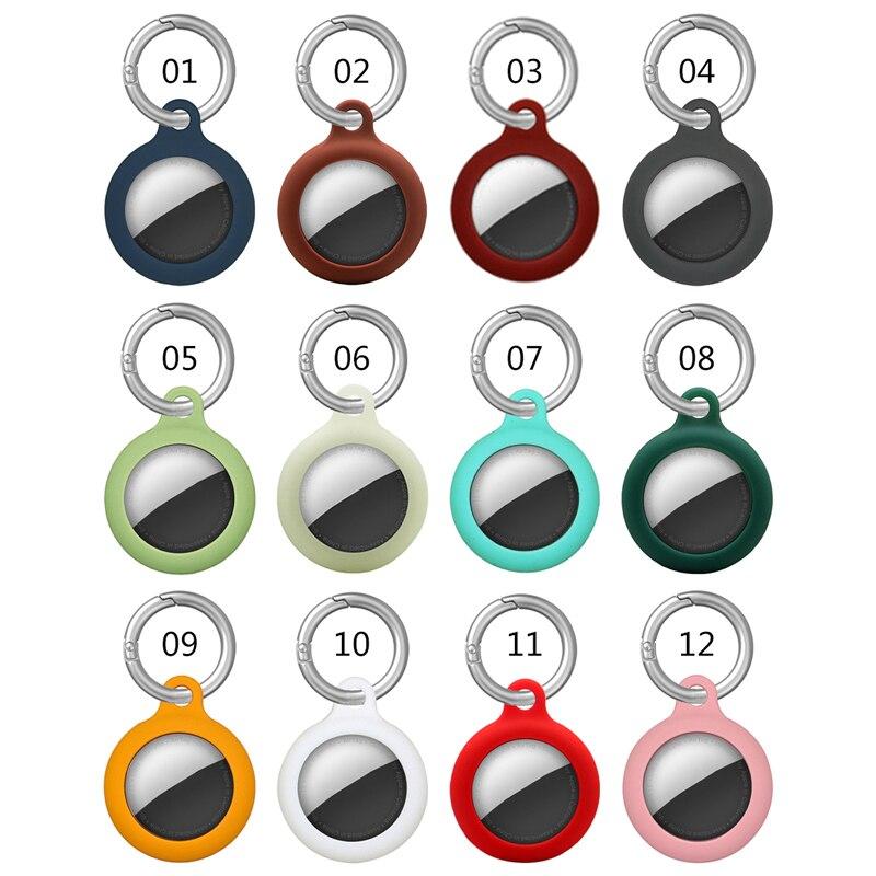 Кожаный чехол для Airtag, защитный чехол для Apple Airtag, чехол для Apple Locator Tracker, устройство против потери, защитный чехол для брелока чехол