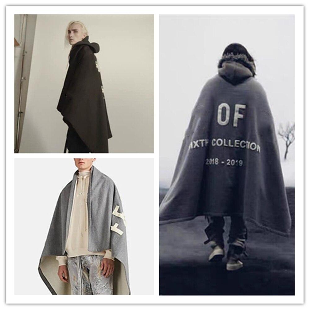 Модная яркая трендовая накидка KANYE в стиле ретро 1:1 для мужчин и женщин, хлопковая накидка с вышивкой, ветровка в стиле Джастина Бибера
