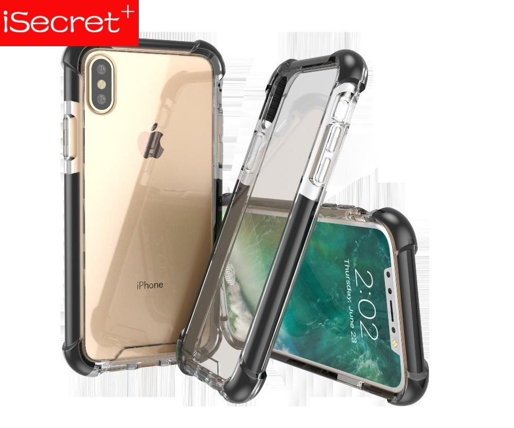 ISecret Tech21ing PMMA antigolpes para cuatro esquinas fundas de teléfono móvil de moda para iPhone 6 6s 7 8 X XR XS.