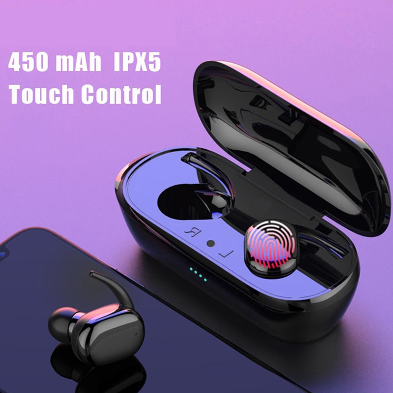Y30 TWS Wireless Bluetooth Earphone Headphones 3D Stereo Sound Music In-ear Earbuds Headsets with Ch