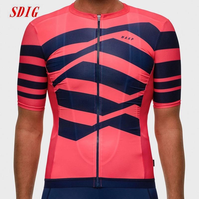 Maap-Maillot de manga corta para hombre, ropa de equipo profesional para bicicleta...